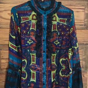 Anna Sui for INC Gorgeous Silk Blouse